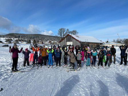 Sortie Ski de fond pour nos élèves de CM1 et CM2
