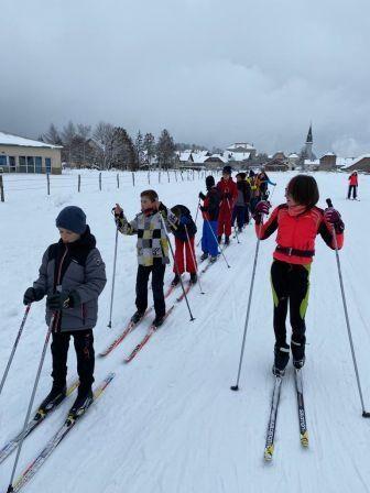 Sorties ski de fond et raquette pour nos collégiens, Janvier 2021
